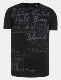 "Camp David ® T-shirt V-hals ""Port Bay"", zwart"