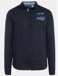 Camp David ® Shirt met gestreepte banden op de mouwen, donkerblauw