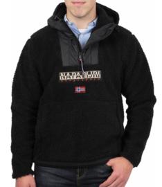 Napapijri ® Hoodie Pullover Anorak, Zwart