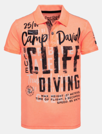 Camp David ® poloshirt in piquee met XL artwork