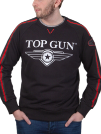 "Top Gun Sweatshirt ronde hals ""Streak Logo"" met patches"