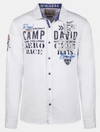 """Overhemd wit uit de """"Aero Club"""" collectie"""