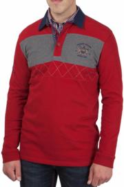 """van Santen ® Sweatshirt met polokraag """"Buenos Aires"""" rood"""