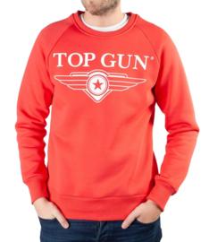 "Top Gun Sweatshirt ronde hals ""Soft Logo"" koraal"