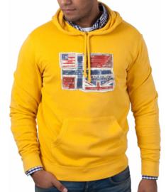 Napapijri ® Sweatshirt met capuchon Norway Flag, geel