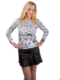 "Anne Hill ® ""het publiek"" Sweatshirt, zwart/wit"