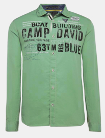 "Camp David Overhemd groen uit de ""Boat Building"" collectie"