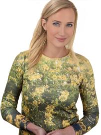 """Anne Hill ® """"De kracht van bloemen"""" Sweatshirt, groen/geel"""