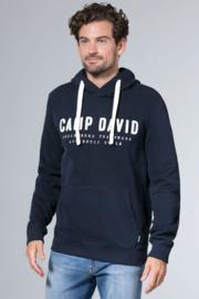 Camp David ® hoodiesweater met logoborduurwerk, donkerblauw