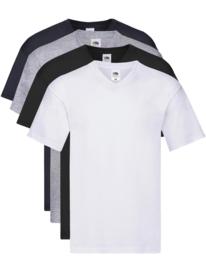 Fruit V-Neck T-Shirt in originele stijl voor heren (pak van 4 stuks)