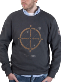 "Top Gun Sweatshirt ronde hals ""Target Disc"" met patches"