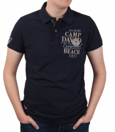 Camp David ® Polo Shirt Iceland Escape, donkerblauw