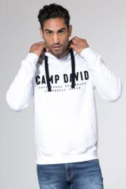 Camp David ® hoodiesweater met logoborduurwerk, wit