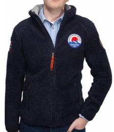 Napapijri ® Hoody vest Sherpa-Fleece, donkerblauw