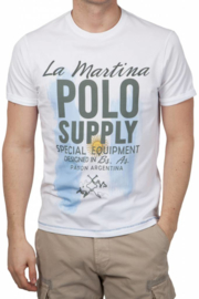 La Martina ® mannen T-Shirt wit, Polo Supplier