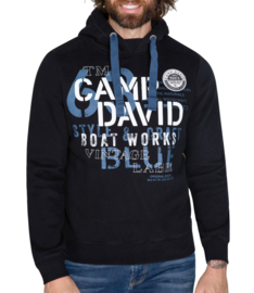 "Camp David Sweatshirt met capuchon uit de ""Boat Building"" collectie"