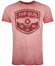 "Top Gun® ""Power Shield"" mannen T-shirt, rood"