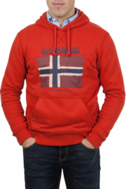 Napapijri ® Sweatshirt met capuchon Flag, oranje