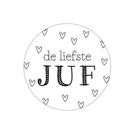 "Stickers ""De liefste Juf"""