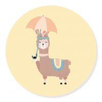 Sticker Lama Geel