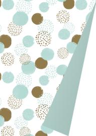 Cadeaupapier Dots Mint/Gold