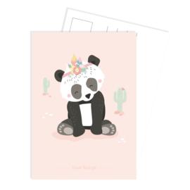 Kaart Panda Pink