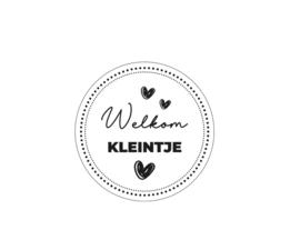 Sticker Welkom Kleintje!