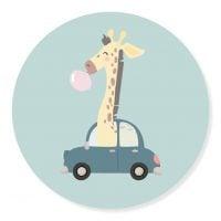 Sticker Giraf Auto