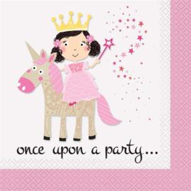 servetten prinses 16 stuks