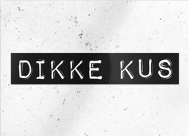 """kaart """"Dikke kus"""""""