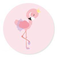 Sticker Flamingo Roze