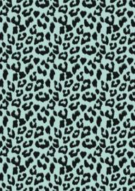 Cadeaupapier Leopard Mint
