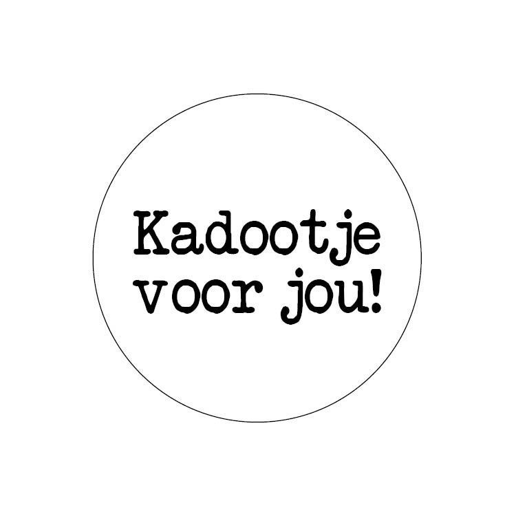 Sticker Kadootje voor jou wit