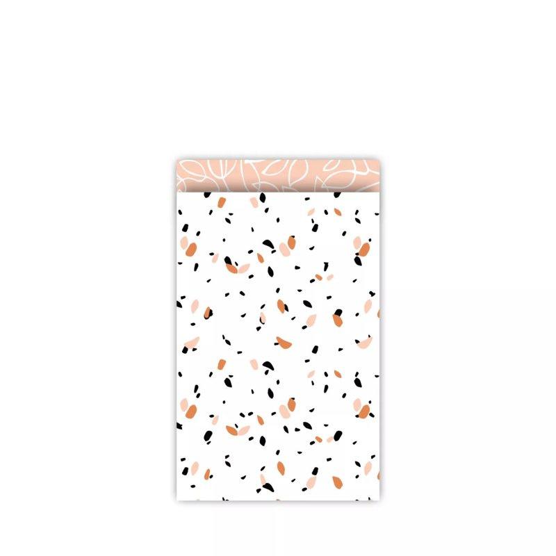 Cadeauzakje Dots Peach per 5 (12x19cm)