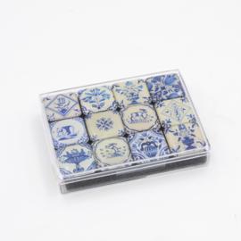 Mini magnet set Delfts blauwe tegeltjes