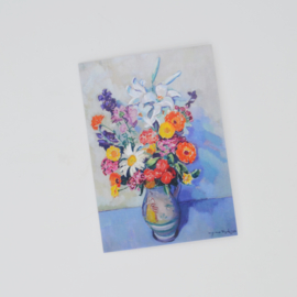 Kunstkaart 's Zomers bloemstilleven