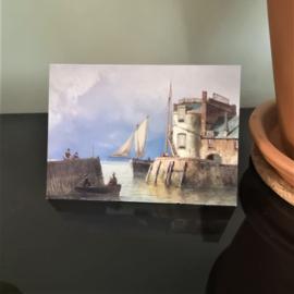 Kunstkaart Koekkoek - Gezicht op de Campveerse Toren