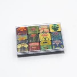 Mini magnet set Art Nouveau