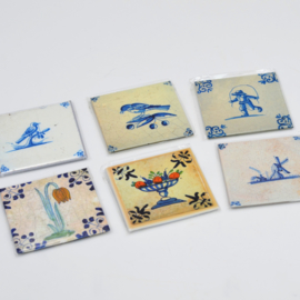 Diverse magneten Dutch Tiles