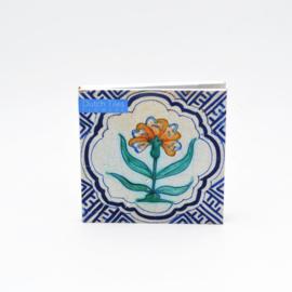 Kaartenset Dutch Tiles - Flowers