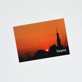 Ansichtkaart Veere - Stadhuis