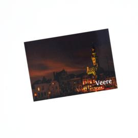 Ansichtkaart Veere - Nacht