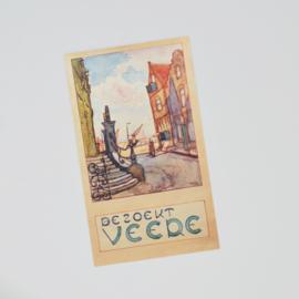 Ansichtkaart Bezoekt Veere - D.J. Koets