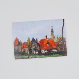 Kunstkaart Oudestraat Achterkant