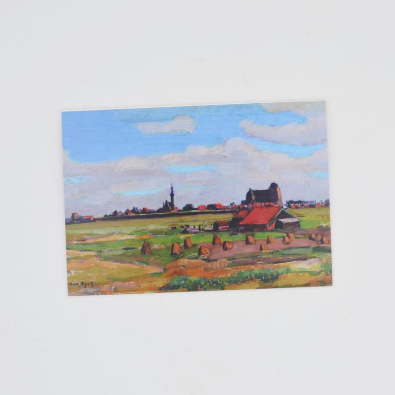 Kunstkaart Gezicht op Veere - A.J. van Dijck