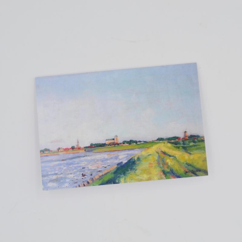 Kunstkaart Gezicht op Veere - D.J. Koets