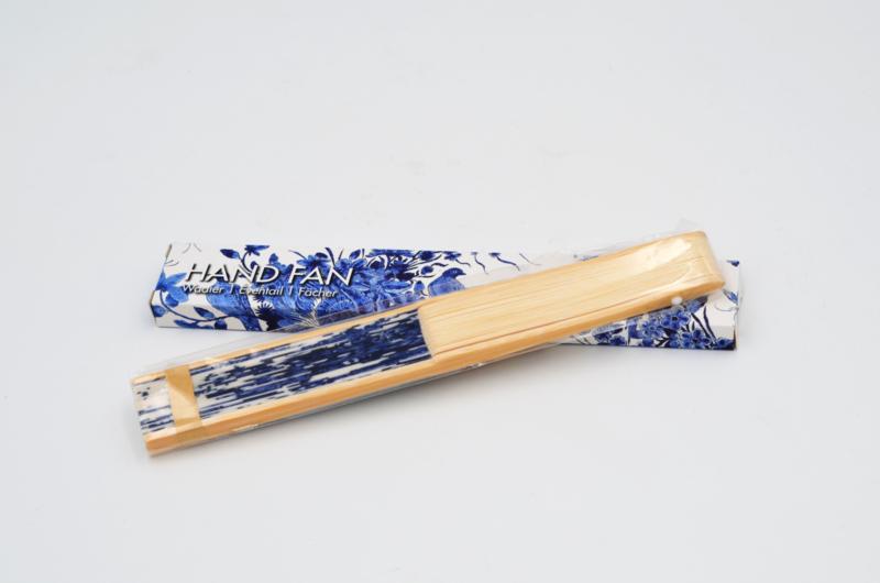 Waaier Delfts Blauw   Hand fan Delft Blue