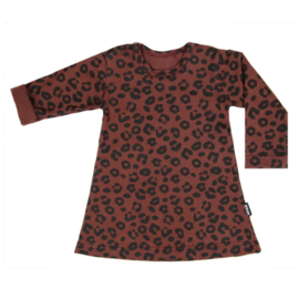 DRESS RED LEOPARD LONG