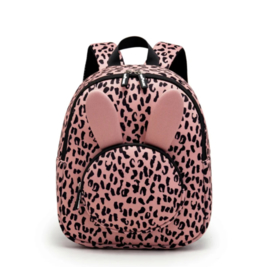 BACKPACK BUNNY PINK LEOPARD