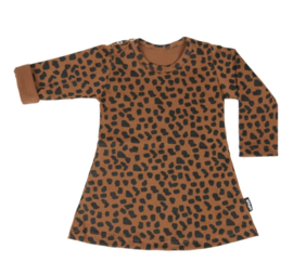 DRESS CARAMEL SPOTS LONG